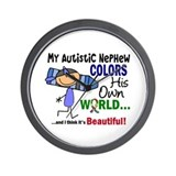 Colors Own World Autism Wall Clock