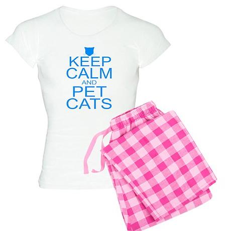 Keep Calm and Pet Cats Women's Light Pajamas