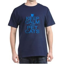 Keep Calm and Pet Cats T-Shirt
