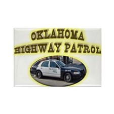 Oklahoma Highway Patrol Rectangle Magnet (100 pack