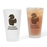 Vintage Squirrel Whisperer Drinking Glass