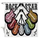 Rock Star Guitars III Shower Curtain