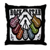 Rock Star Guitars III Throw Pillow