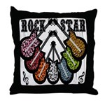 Rock Star Guitars III Throw Pillow