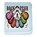 Rock Star Guitars III baby blanket