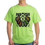 Rock Star Guitars III Green T-Shirt