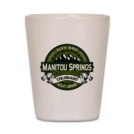 Manitou Springs Olive Shot Glass