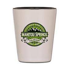 Manitou Springs Green Shot Glass