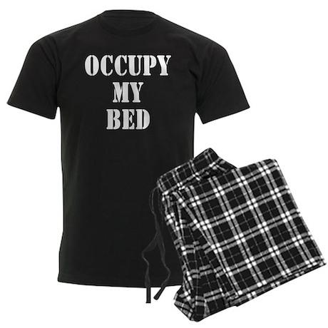 Occupy my bed Men's Dark Pajamas