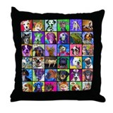 Pop Art Pet Throw Pillow