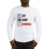 Eat Sleep Baseball Long Sleeve T-Shirt