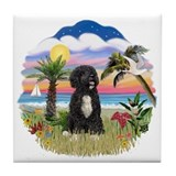 Palms-PWD 5bw Tile Coaster