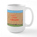 The Fence Large Mug