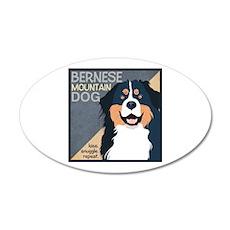 Bernese-Kiss.Snuggle.Repeat. 38.5 x 24.5 Oval Wall