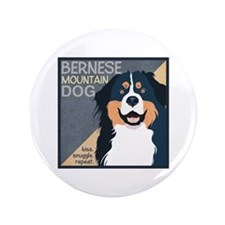"Bernese-Kiss.Snuggle.Repeat. 3.5"" Button (100 pack"