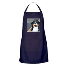 Bernese-Kiss.Snuggle.Repeat. Apron (dark)