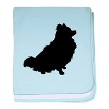 Pomeranian Silhouette baby blanket
