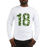 Number 18, Camo Long Sleeve T-Shirt