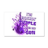 I'm Rockin' Purple for my Son Car Magnet 20 x 12