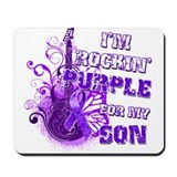 I'm Rockin' Purple for my Son Mousepad