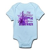 I'm Rockin' Purple for my Bro Onesie