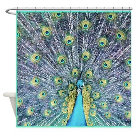 peacock shower curtain by mugglefunds