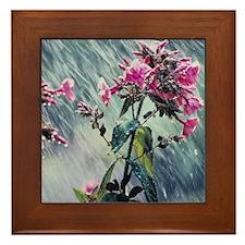 April Showers Framed Tile