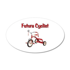 Future Cyclist Trike 22x14 Oval Wall Peel