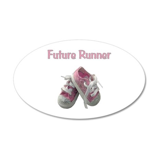Future Girl Runner 38.5 x 24.5 Oval Wall Peel