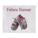 Future Girl Runner Throw Blanket