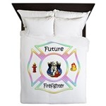 Future Firefighter Pastel Queen Duvet