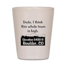 Boulder High Town Shot Glass
