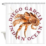 Blue Coconut Crab Shower Curtain