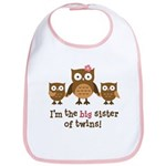 Big Sister of Twins - Mod Owl Bib