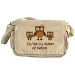 Big Sister of Twins - Mod Owl Messenger Bag