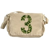 Number 3, Camo Messenger Bag