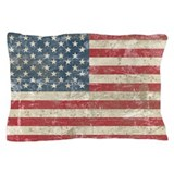 Vintage USA Flag Pillow Case