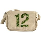Number 12, Camo Messenger Bag