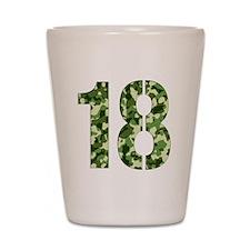 Number 18, Camo Shot Glass