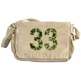 Number 33, Camo Messenger Bag