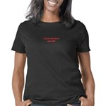 NYJ Cross Women's V-Neck Dark T-Shirt