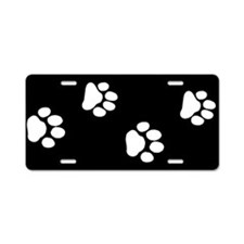 Pet Paw Prints Aluminum License Plate