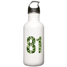 Number 81, Camo Water Bottle