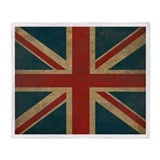 Vintage Union Jack Throw Blanket