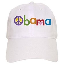 Peace, Love, Obama Baseball Cap