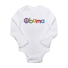 Peace, Love, Obama Long Sleeve Infant Bodysuit