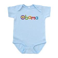 Peace, Love, Obama Infant Bodysuit