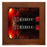 Double Neck Guitar Framed Tile
