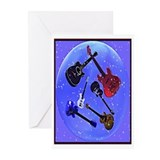 Guitars In A Bubble Greeting Cards (Pk of 10)