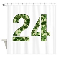 Number 24, Camo Shower Curtain